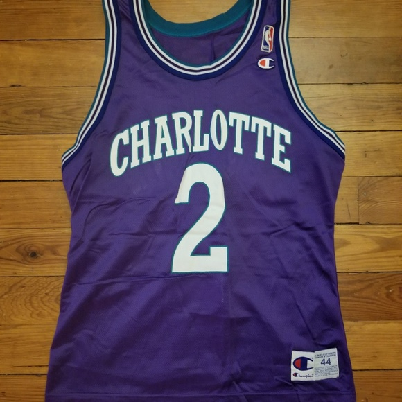 2520c8d13 Champion Other - NBA - Charlotte Hornets Jersey - L. Johnson